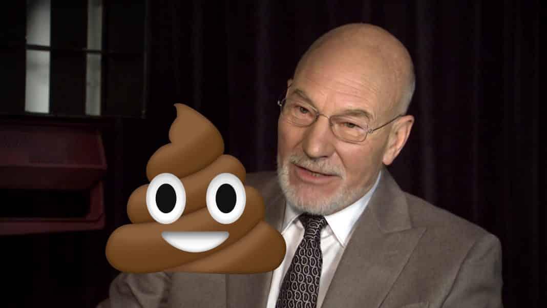 patrick stewart hovno the emoji movie