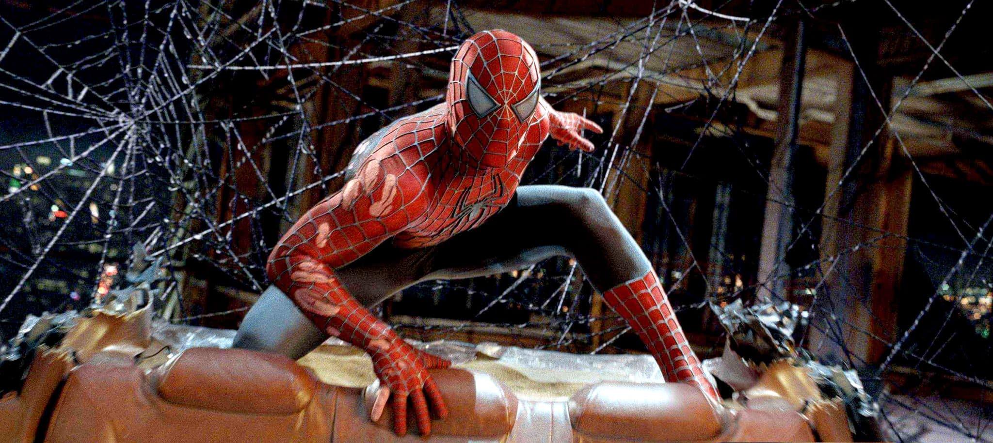 Spider-Manov kostým z trilógie Sama Raimiho