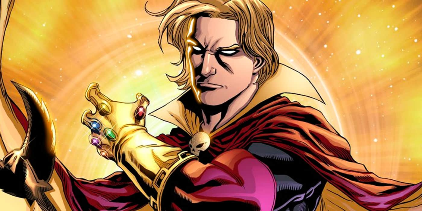 Adam Warlock ako držiteľ Infinity Gauntlet