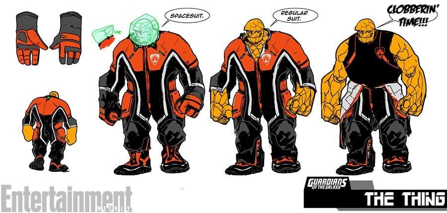 Takto vyzerajú Thingove obleky v Guardians