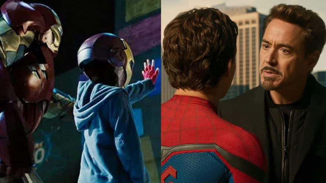 iron man spider-man mcu