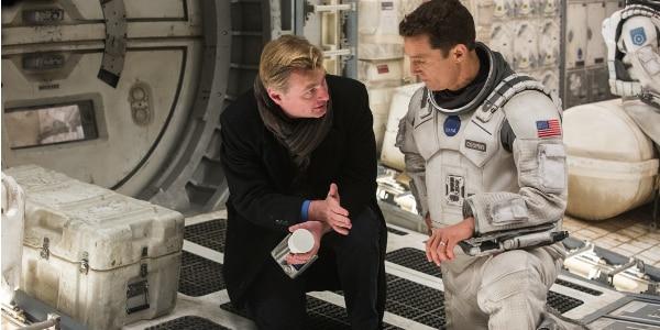 Christopher Nolan pri natáčaní jeho deviateho filmu Interstellar