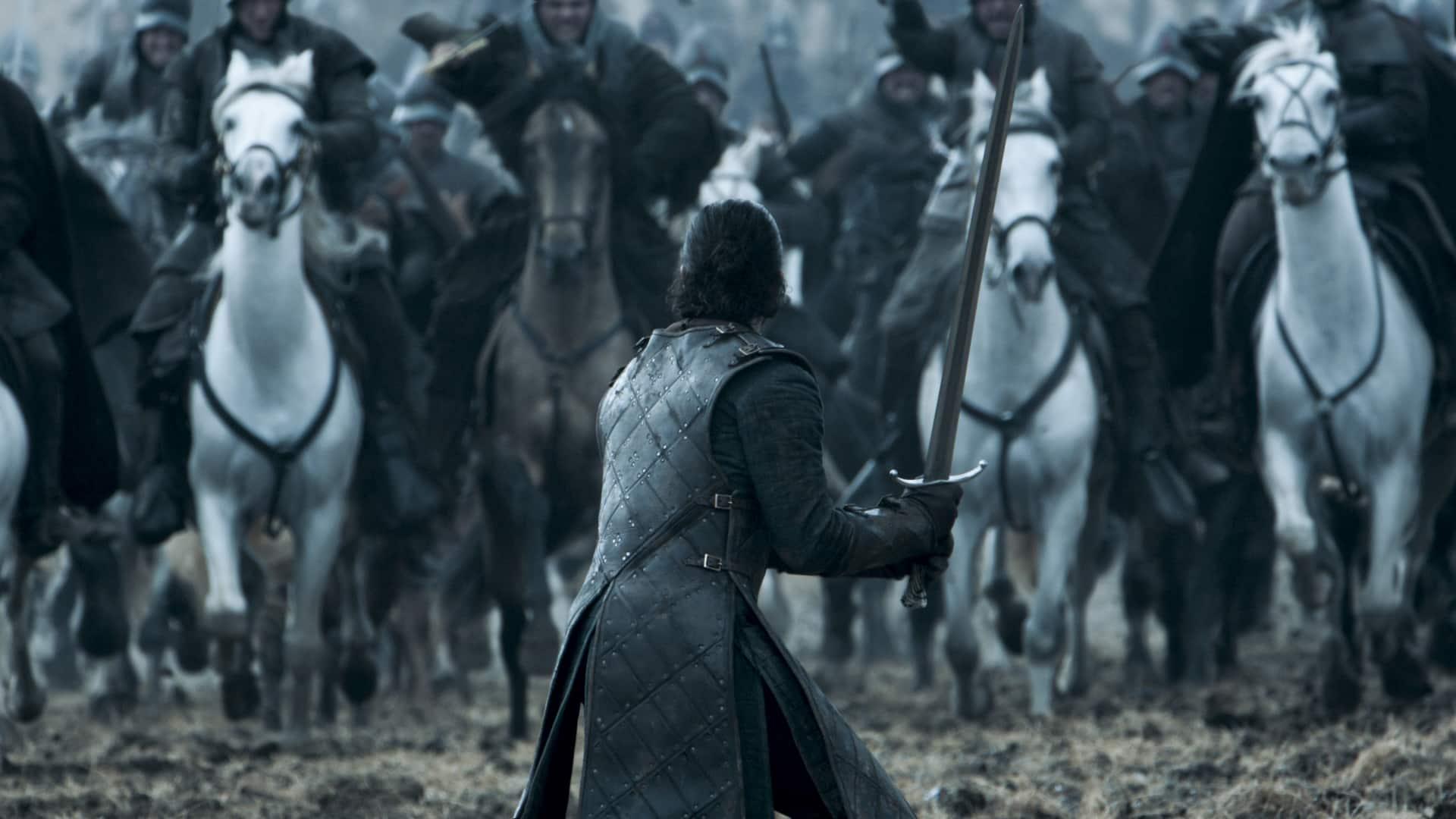 Jon Snow v Battle of Bastards