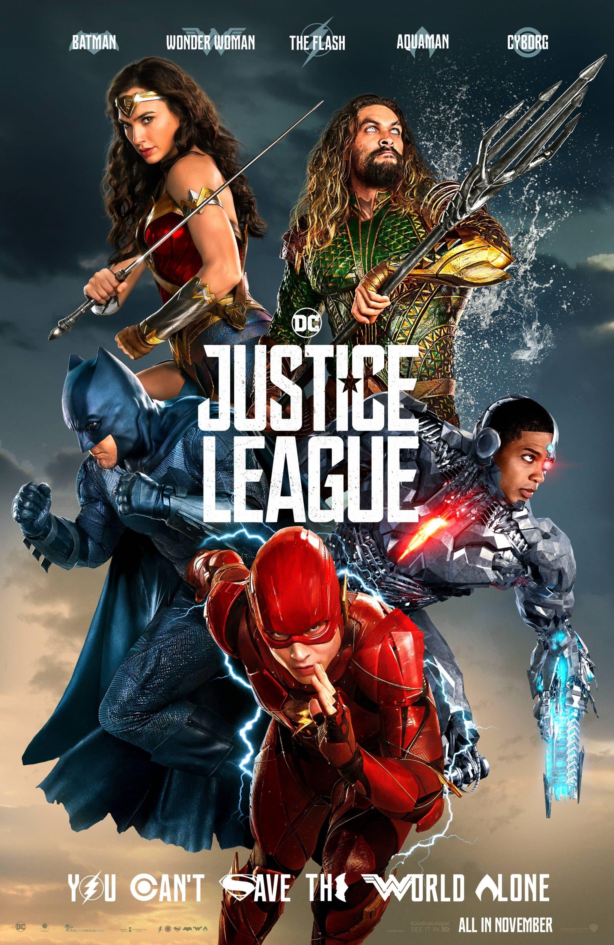 Oficiálny plagát na Justice League