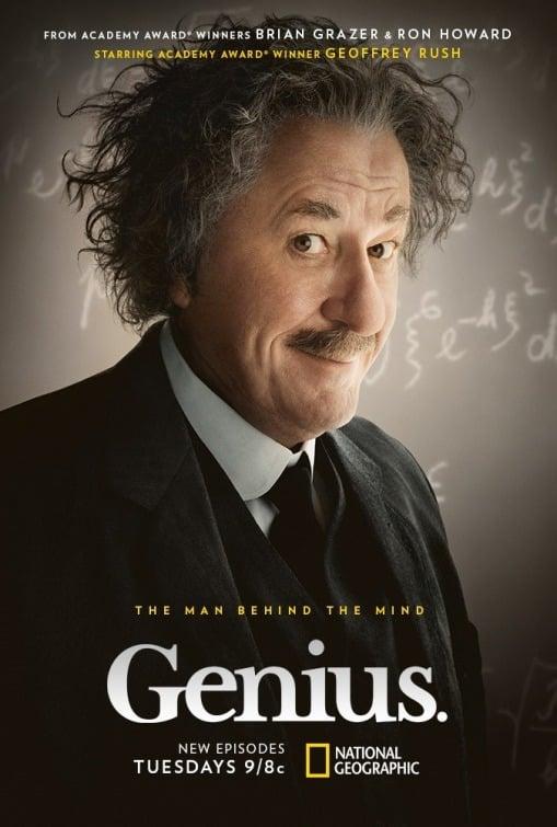 Plagát na prvú sériu seriálu Genius, ktorá sa zaoberala životom Alberta Einsteina