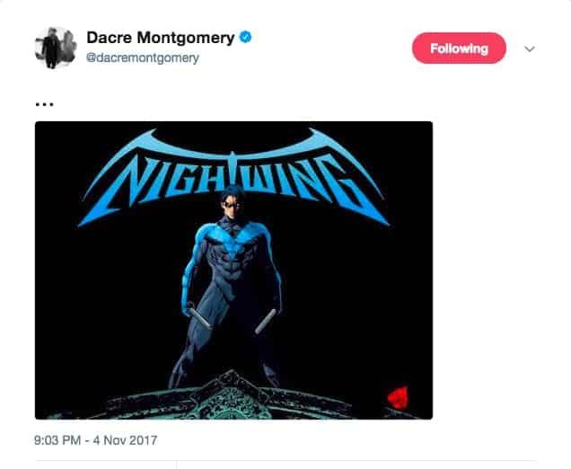 Vymazaný tweet Dacreho Montgomeryho