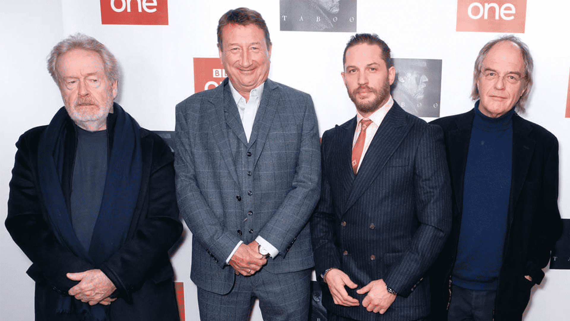 Z ľava: Ridley Scott, Steven Knight, Tom Hardy, Edward Hardy