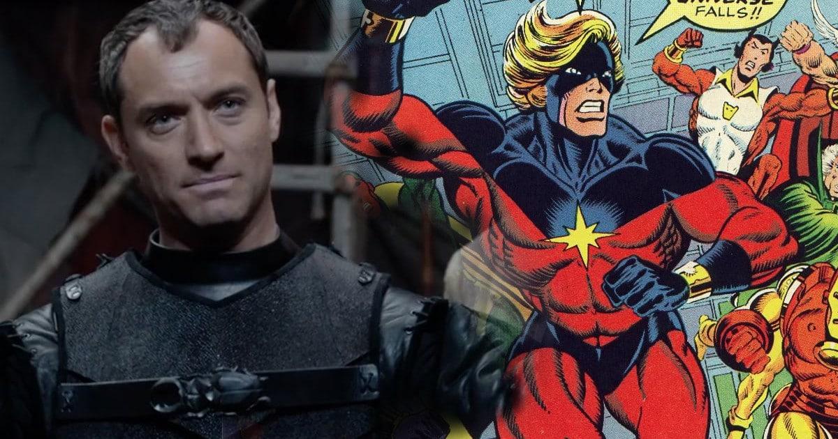 Jude Law ako Mar-Vell, pôvodný Captain Marvel