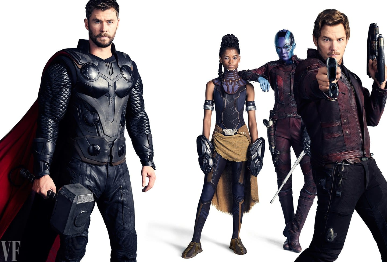 Fotenie k 10. výročiu Marvel Studios; Zdroj: vanityfair.com