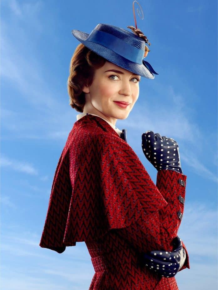Oficiálna fotka Emily Blunt ako Mary Poppins z filmu Mary Poppins Returns