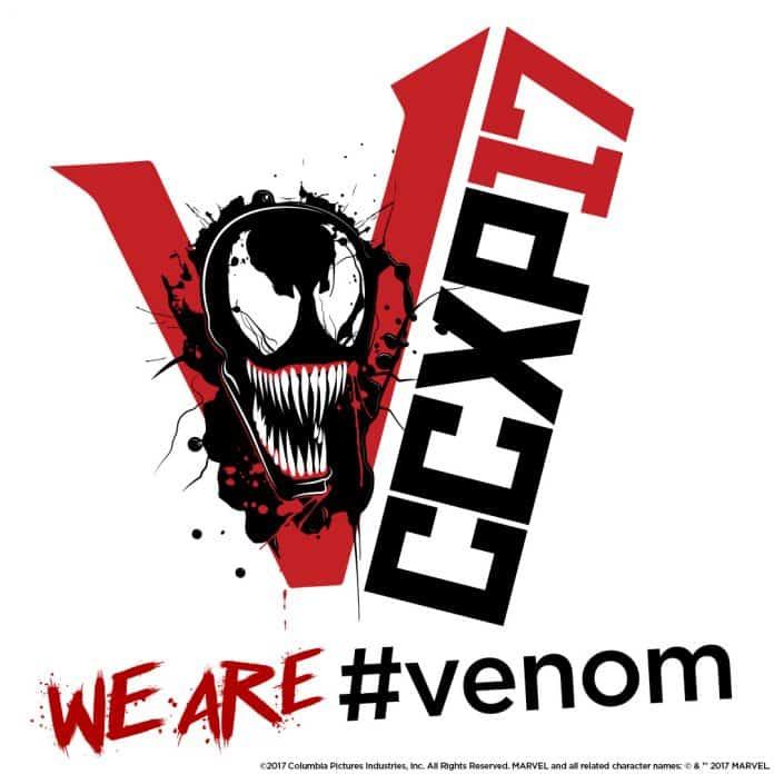 Oficiálne logo filmu Venom na brazílskom Comic-Cone