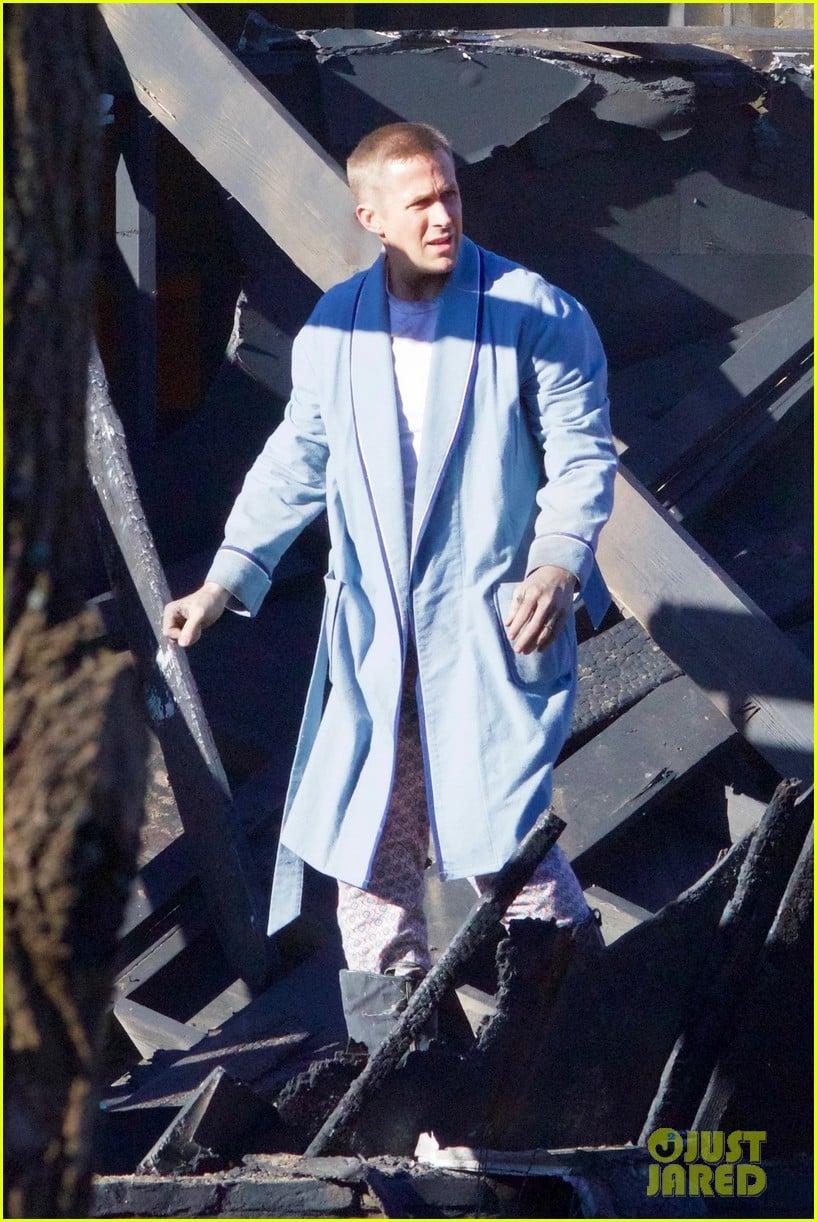 Ryan Gosling ako Neil Armstrong na natáčaní filmu First Man