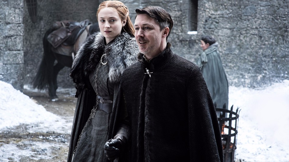 Ôsma séria Game of Thrones Sansa a Littlefinger