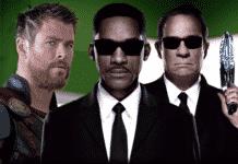 Chris Hemsworth muži v čiernom