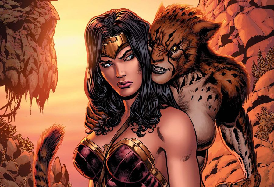 Wonder Woman a Cheetah v komiksoch