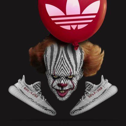 Adidas Yeezy 350 Zebra ako Pennywise