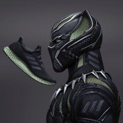 Adidas Futurecraft 4D ako Black Panther