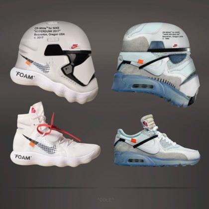 Nike x Off-White Hyperdunk a Air Max 90 ako Stormtroopers