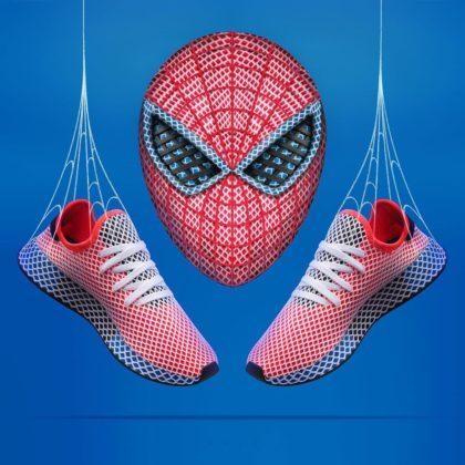 Adidas Deerupt ako Spider-Man