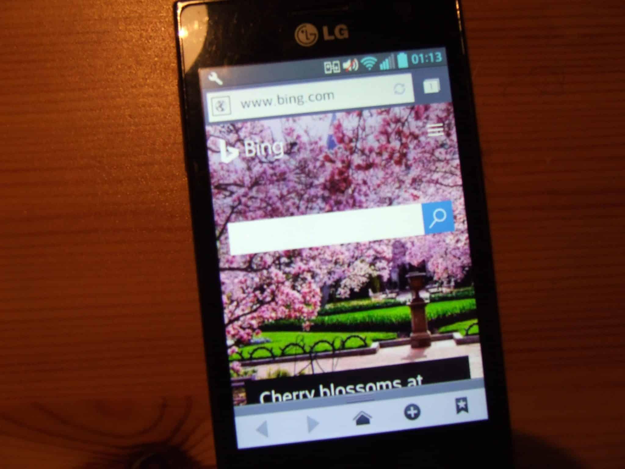 LG Optimus L5 (E610) vie otvoriť každú webstránku