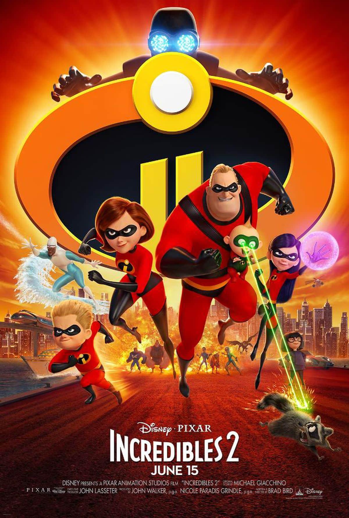 Oficiálny na plagát na Pixarovku Rodinka Úžasných 2!