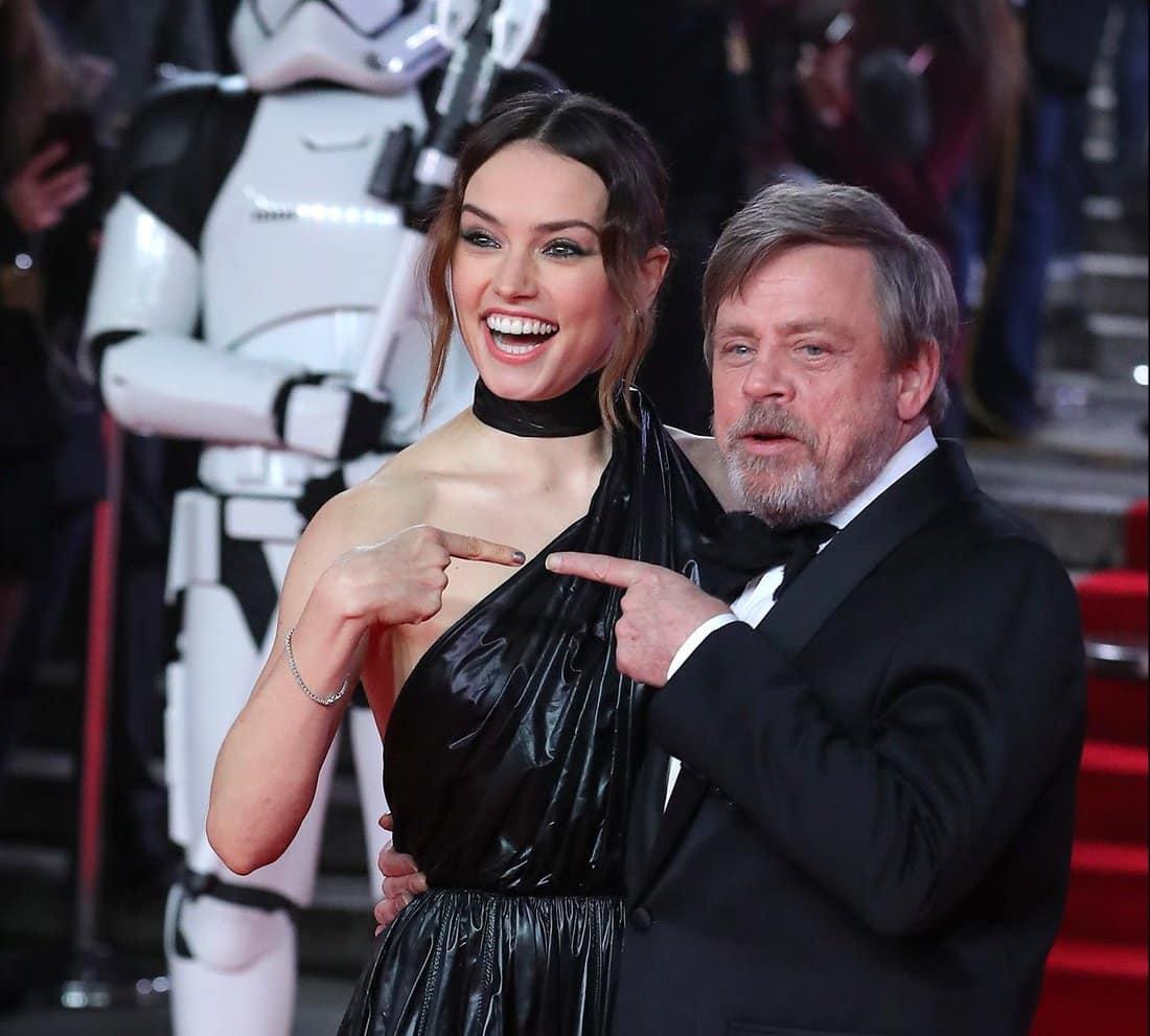 Mark Hamill a Daisy Ridley na premiére filmu Star Wars: The Last Jedi
