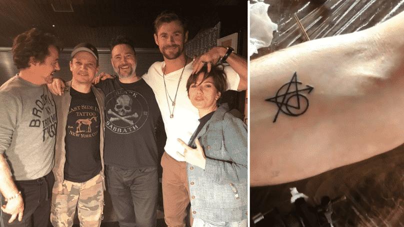 avengers si dali spoločné tetovanie
