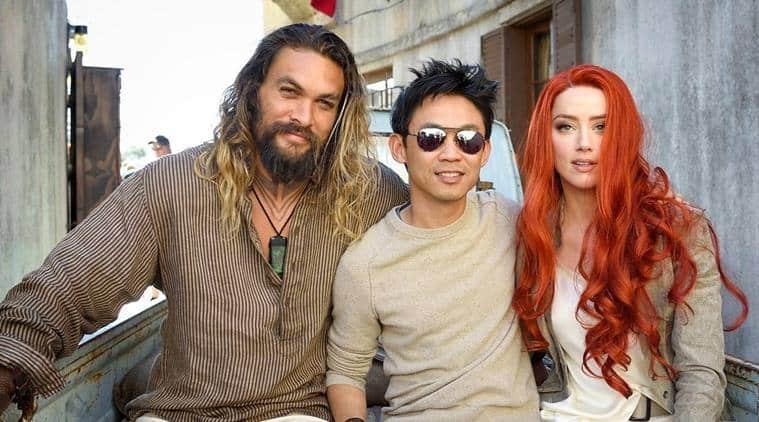 Jason Momoa, James Wan a krásna Amber Heard