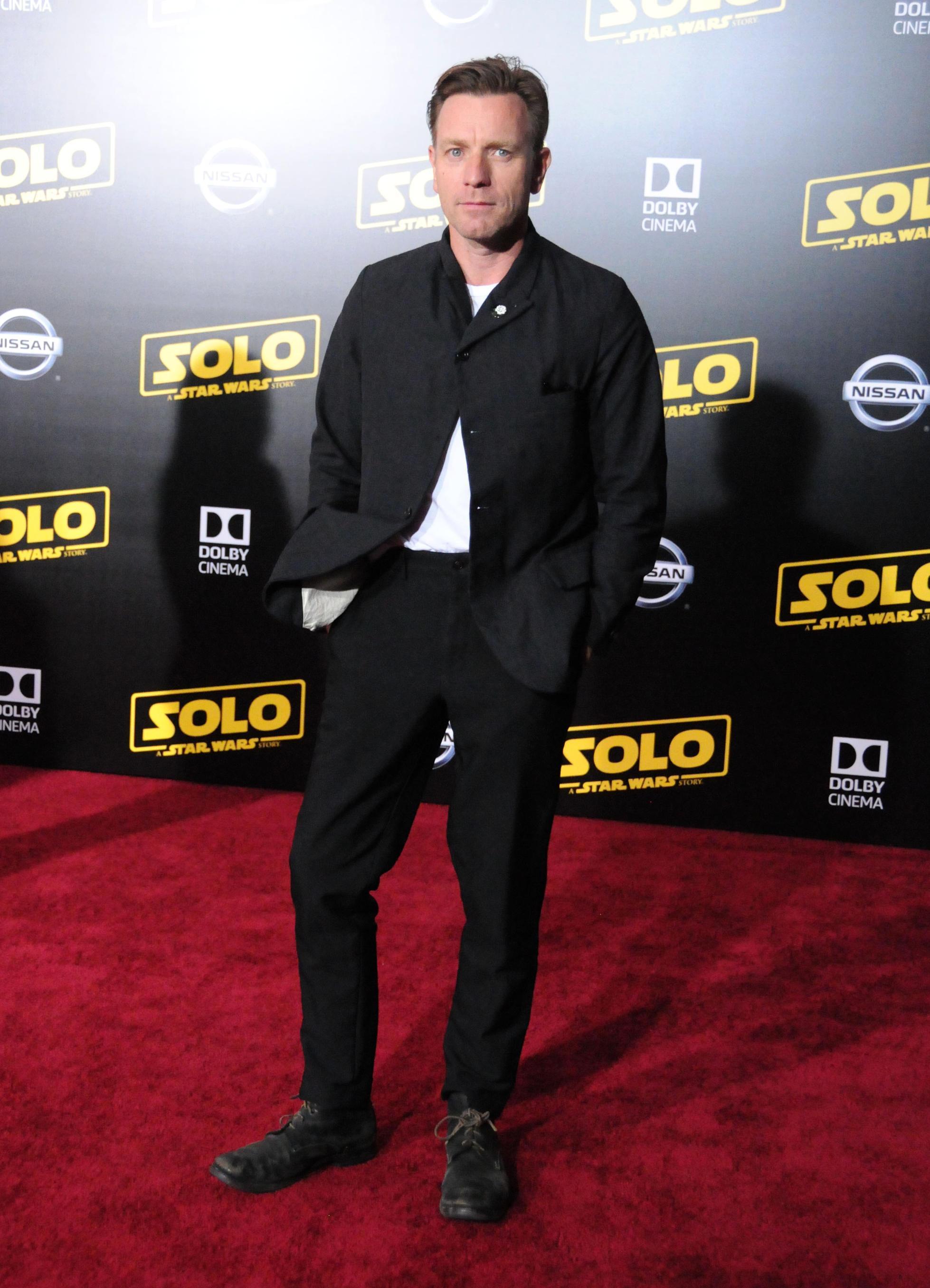 Ewan McGregor na premiére filmu Solo: A Star Wars Story
