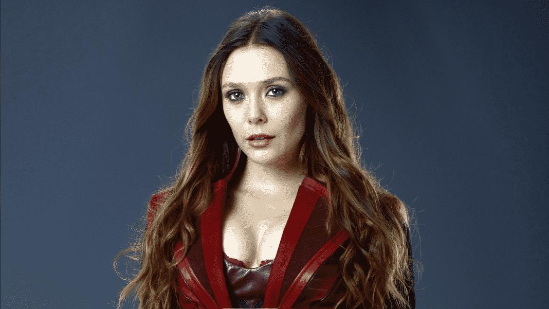 herečka elizabeth olsen kostým scarlet witch