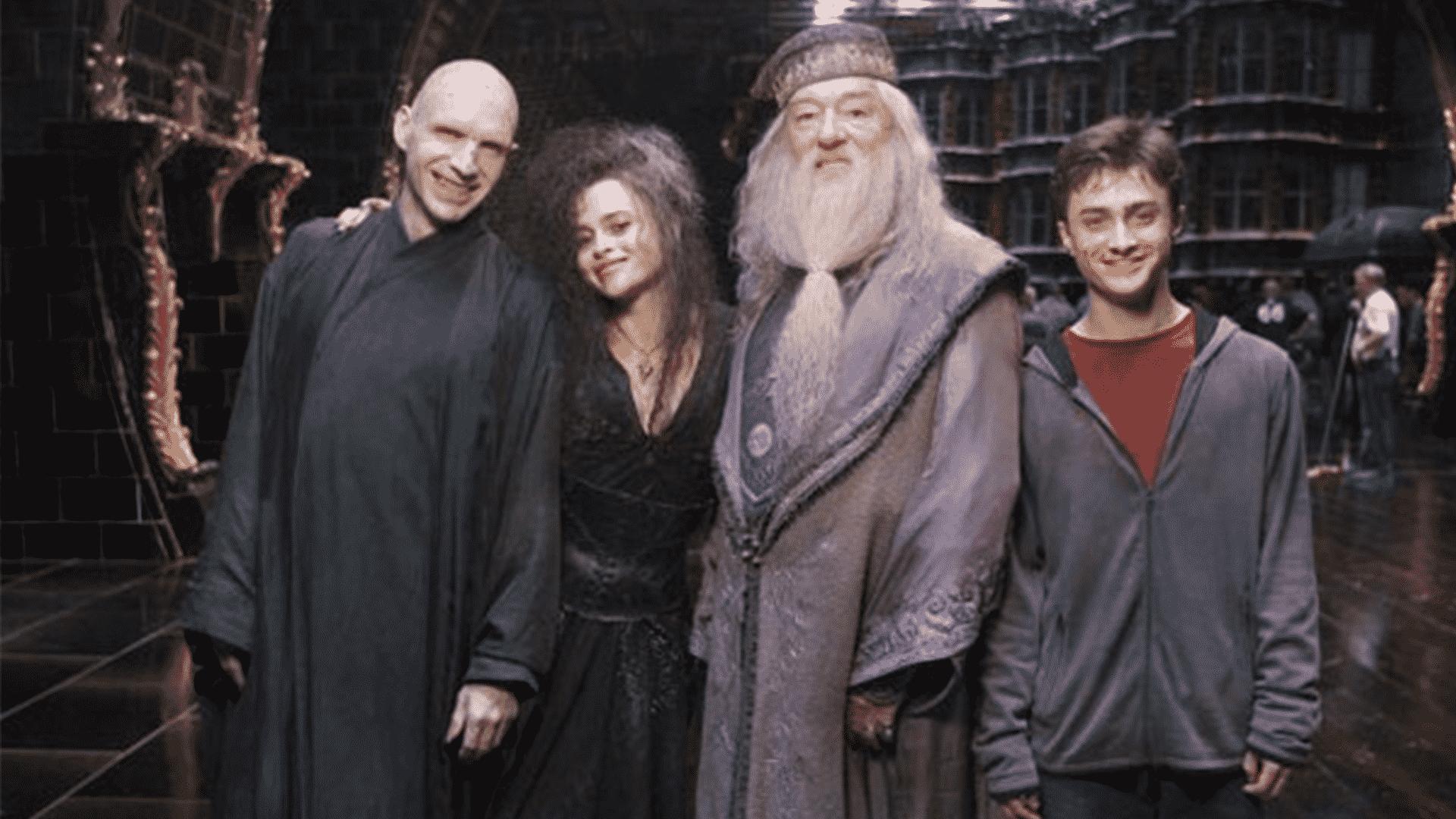 10 bláznivých fotiek z nakrúcania Harry Pottera