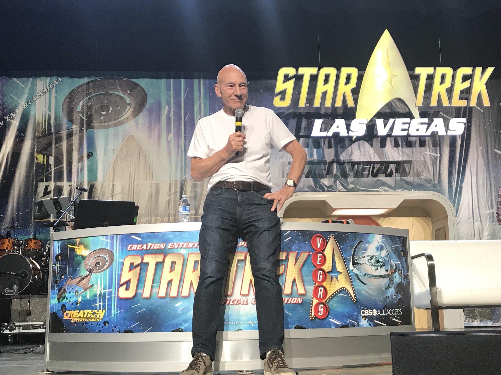 Patrick Stewart na Star Trek Convention v Las Vegas