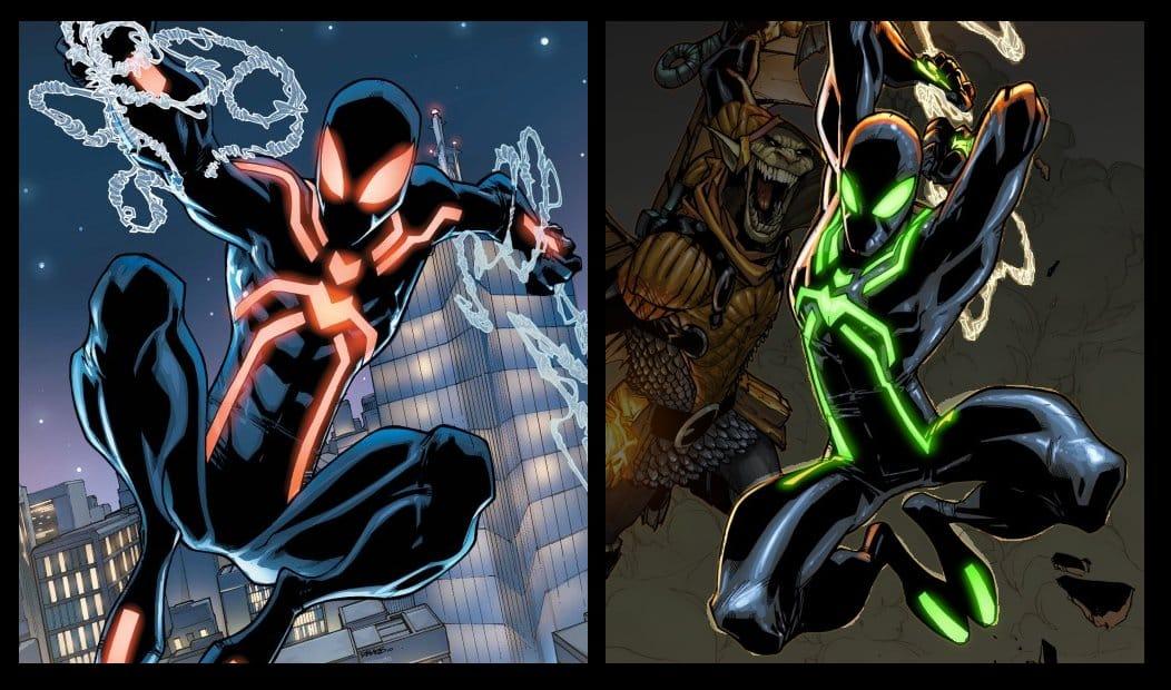 Spider-Manov stealth suit v komiksoch