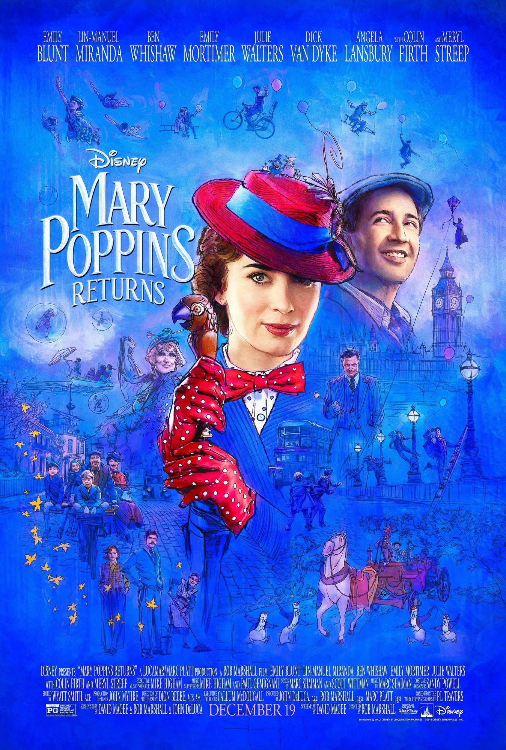 Oficiálny plagát k filmu Mary Poppins Returns