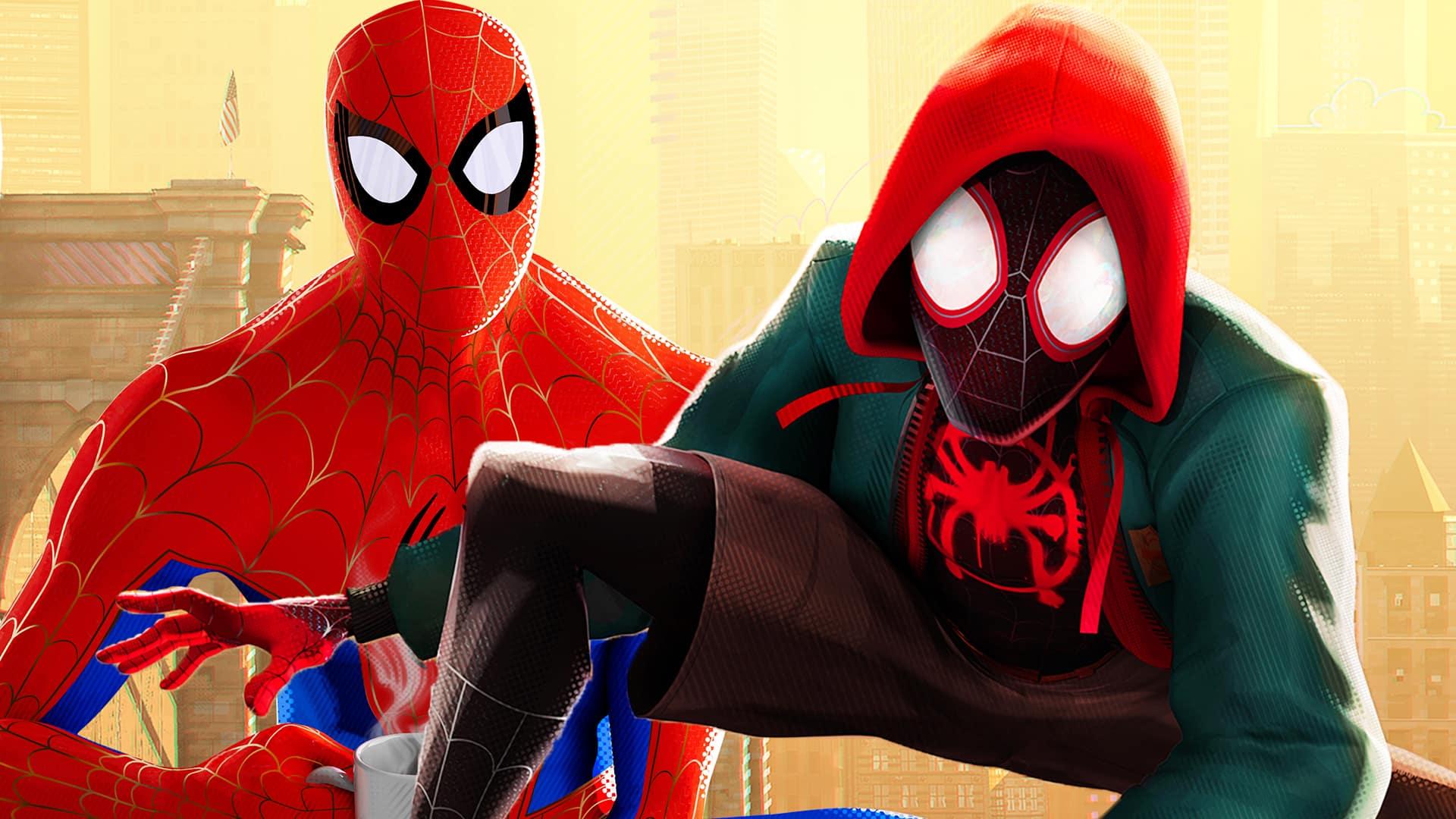 potitulková scéna filmu Spider-Man: Paralelné svety