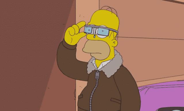 Homer a inteligentné okuliare