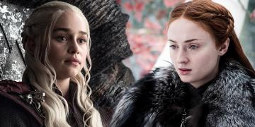 Daenerys sa stretáva so Sansou game of thrones 8