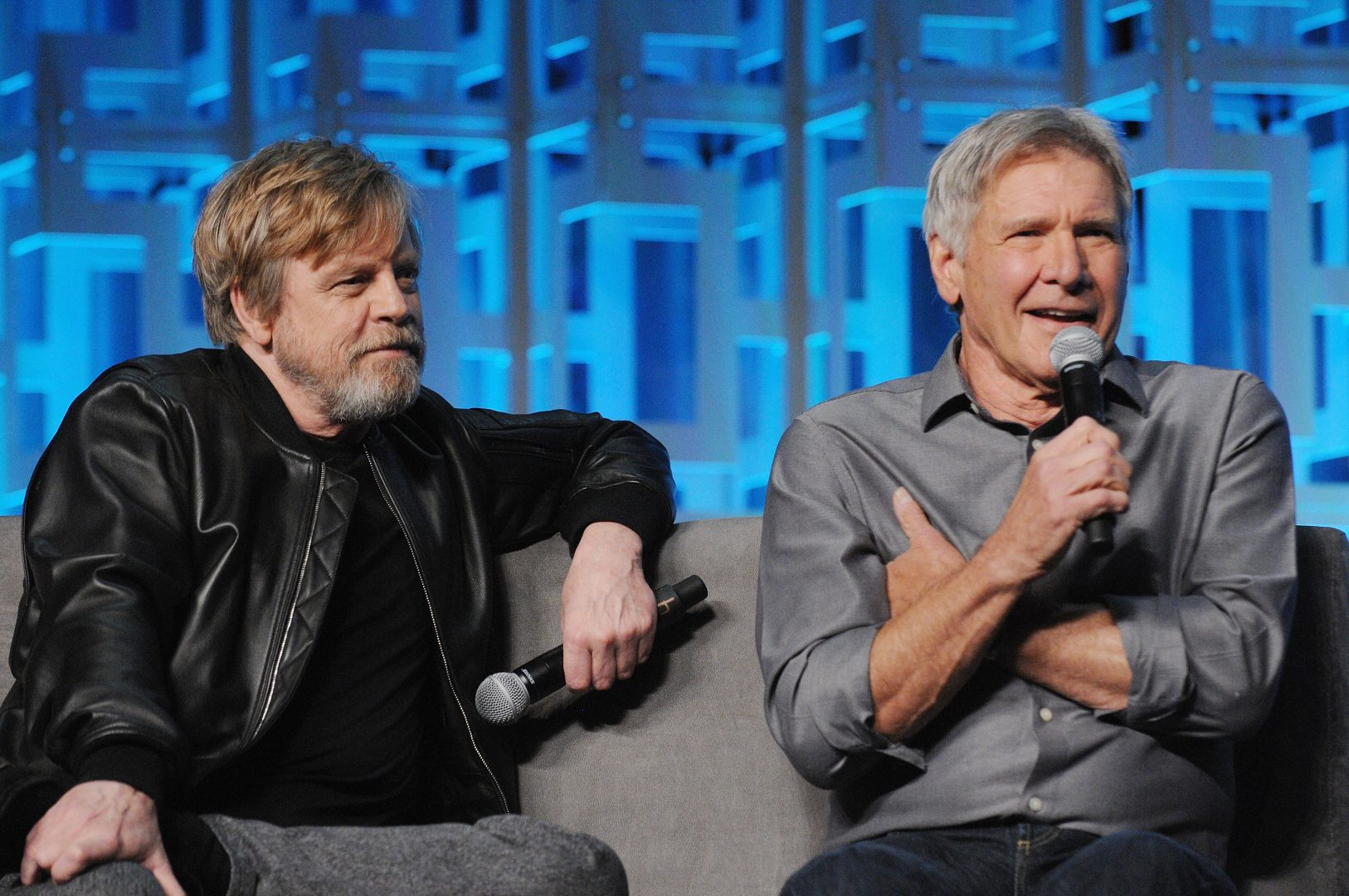 Mark Hamill a Harrison Ford na Star Wars Celebration