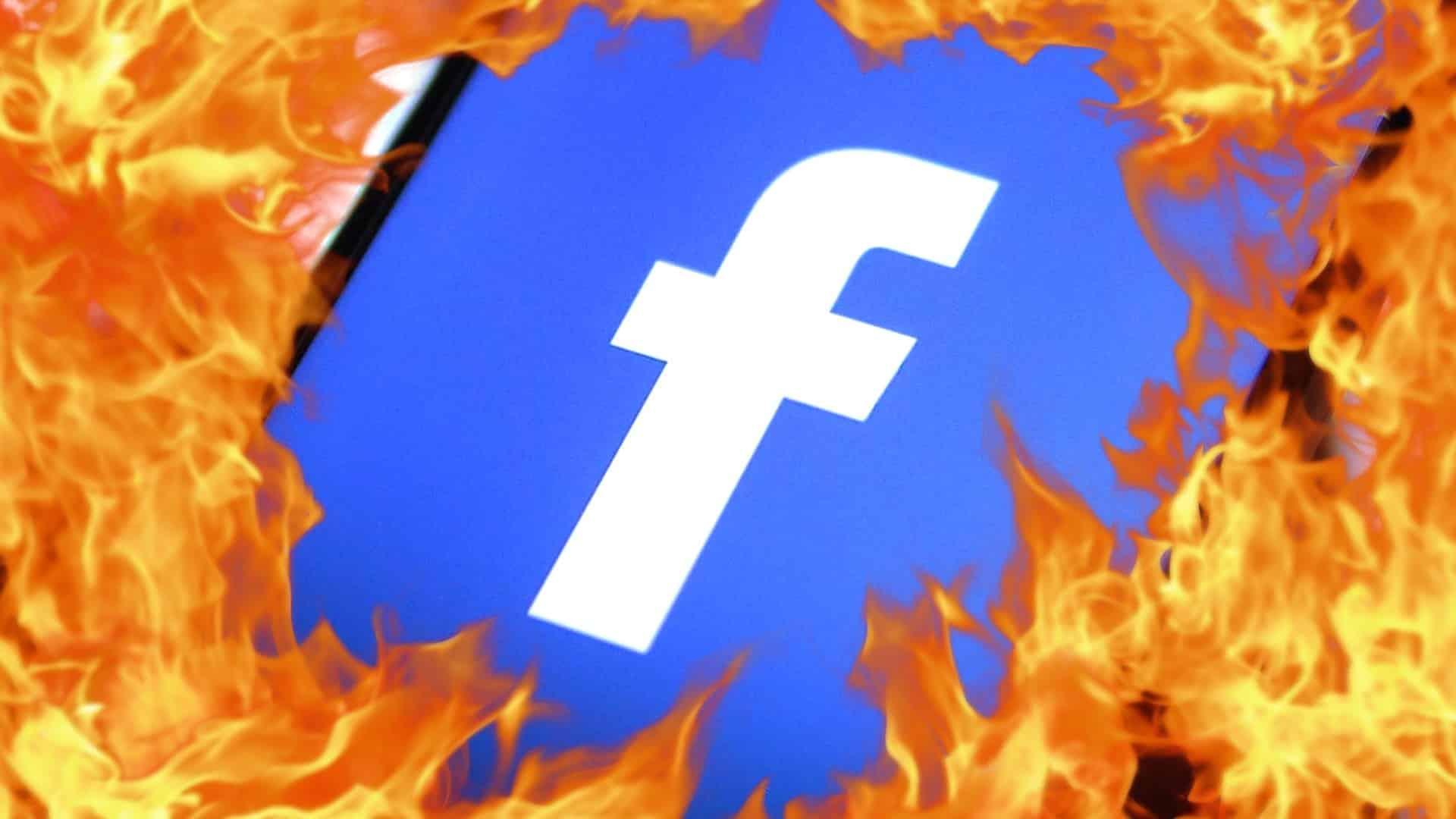 výpadok facebooku
