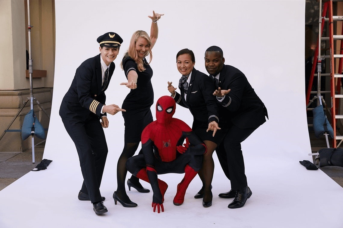 spider-man a united airlines
