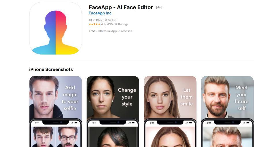 aplikacia faceapp