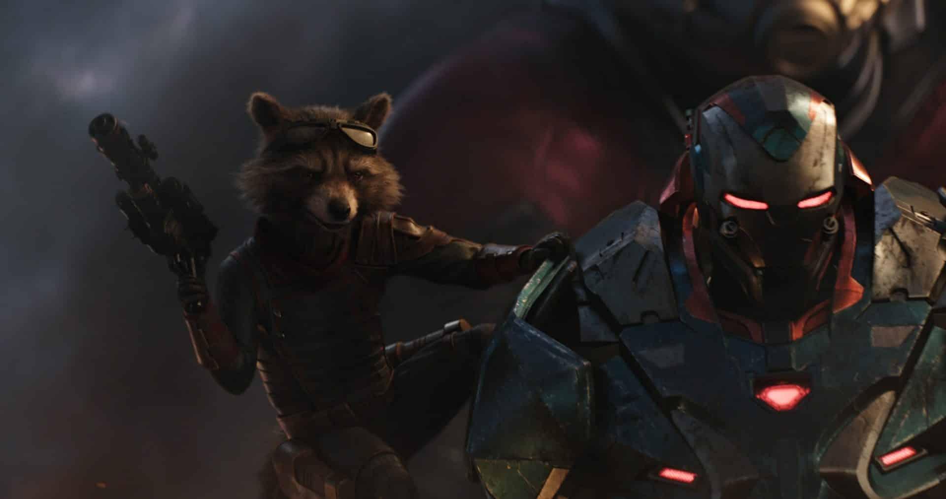 War Machine a Rocket Raccoon