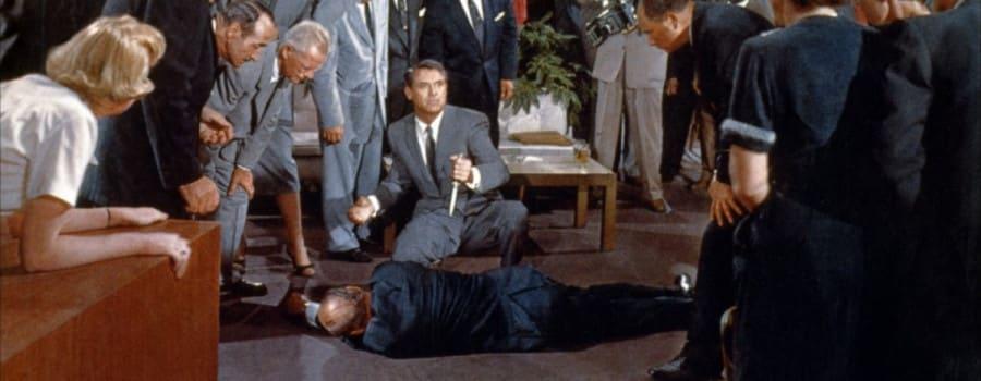 Na sever severozápadnou dráhou Cary Grant