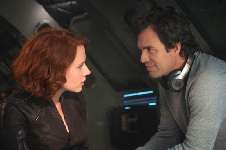 Natasha Romanoff/Black Widow (Scarlett Johansson, left,) and Bruce Banner/Hulk (Mark Ruffalo)