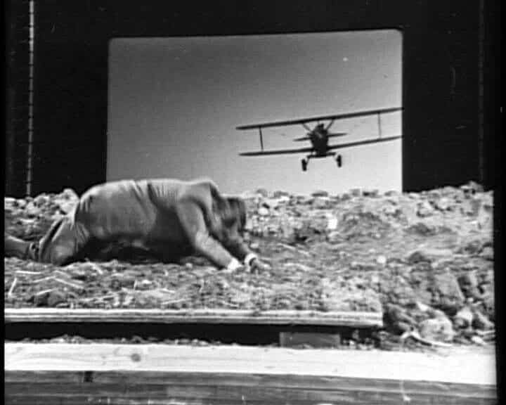 North by northwest filming