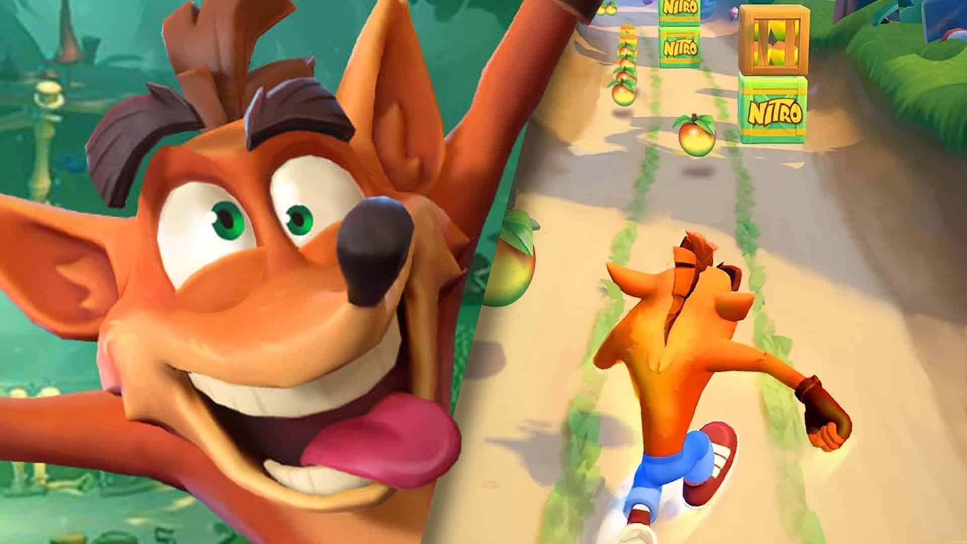 mobilná hra crash bandicoot