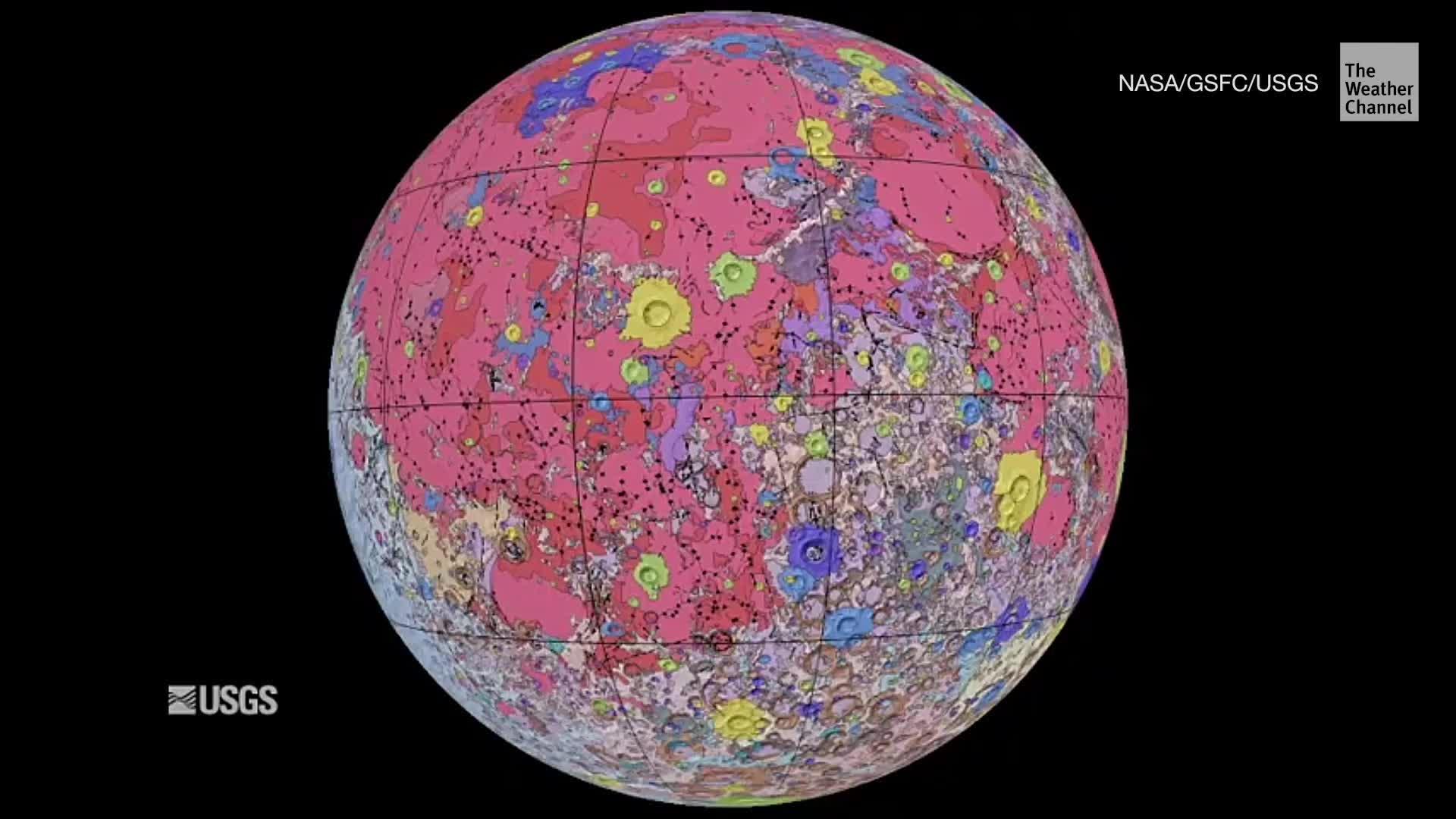 mapa Mesiac