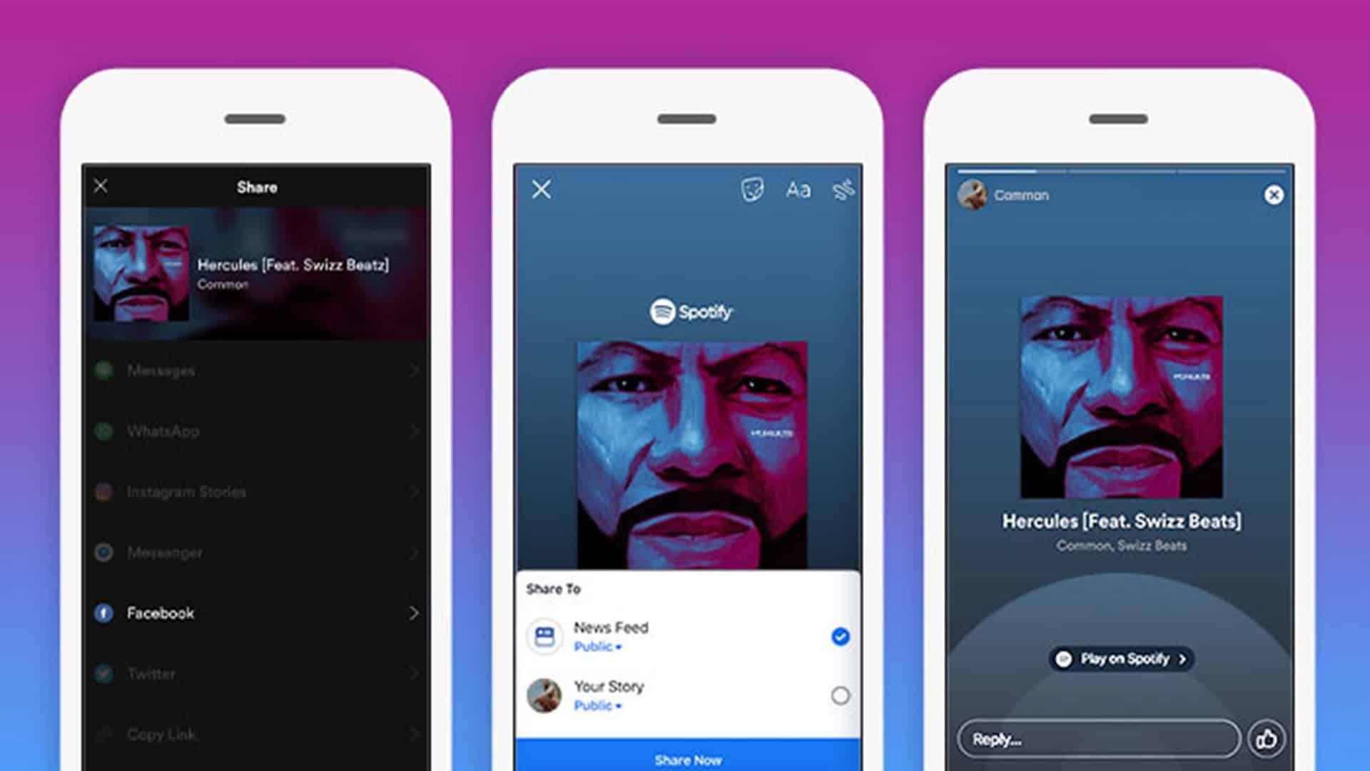Zdieľanie hudby zo Spotify