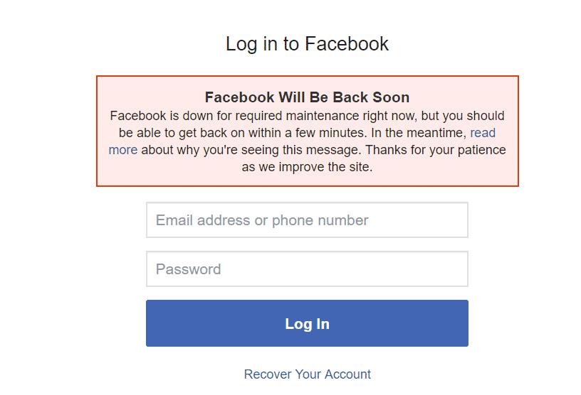 Výpadok Facebooku a Instagramu