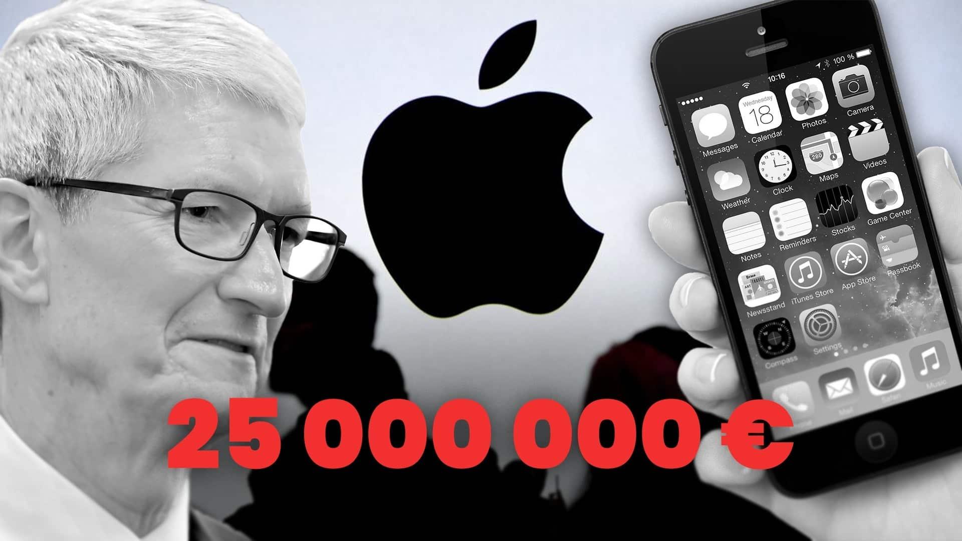 apple dostal pokutu od francuzska